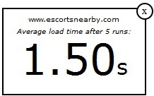 Escortsnearby.com Load Time
